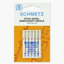 Иглы Schmetz для вышивания № 75(3)-90(2) 5 шт. 130/705H-E